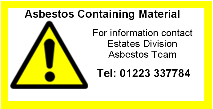 Asbestos label